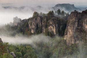 Sächsische Schweiz - Pavillon-Aussicht im Basteigebiet - Mario Kegel - photok